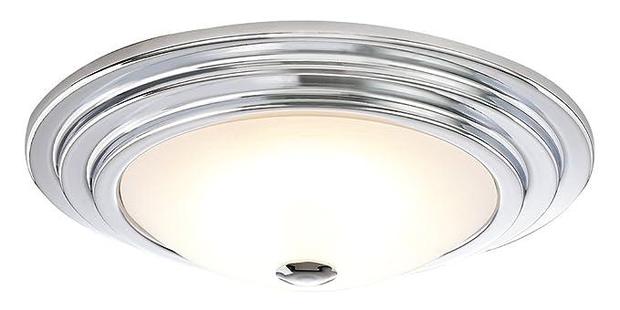 Moderno ed elegante lampada da soffitto per bagno con vetro opale
