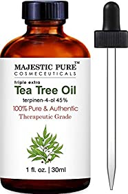 Majestic Pure Tea Tree Essential Oil, 100% Pure and Authentic, 1 fl. Oz