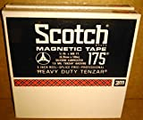 Scotch 3M 5 Inch 175 Reel to Reel Magnetic Tapes - 1/4 inch x 600 feet - (Pack of 2)