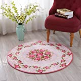 ZGP Interior carpet Area Carpet Round Carpet Living Room Carpet Bedroom Carpet Coffee Table Sofa Cushion Crawling Mat blanket (Color : B, Size : 120120cm)