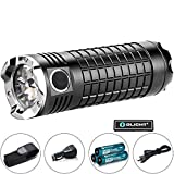 Bundel : Olight SR MINI Ⅱ Intimidator Kit Rechargeable Flashlight Cree XM-L2 LED 3200 Lumens for Search and Rescue Marine Police Security and Protection Military Naval w/ Olight Patch …