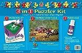 ": 550 Piece ""Daytona Dreams"" Puzzle Puzzle Glue 3-in-1 Puzzle Roll-up"