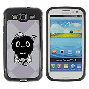 Hybrid Anti-Shock Defend Case for Samsung Galaxy S3 / Cool Tattoo Monster