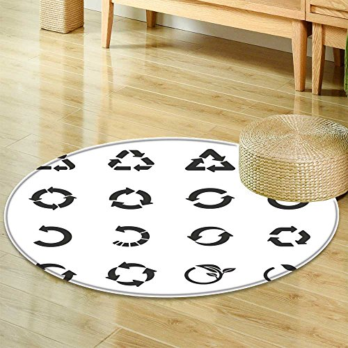 Round Rugs for Bedroom recycle icon set vector eps  Circle Rugs for Living Room -Round 51