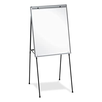 Lorell Dry Erase Board Display Easel With Rubber Feet 40 Inch To 70 Inch Black