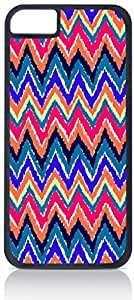 Bold Ikat Chevrons- Case for the Apple Iphone 6 Plus Only-Hard Black Plastic Outer Shell