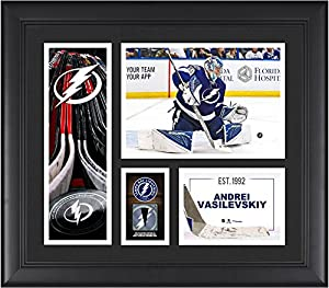 "Andrei Vasilevskiy Tampa Bay Lightning Framed 15"" x 17"" Player Collage with a Piece of Game-Used Puck - Fanatics Authentic Certified"