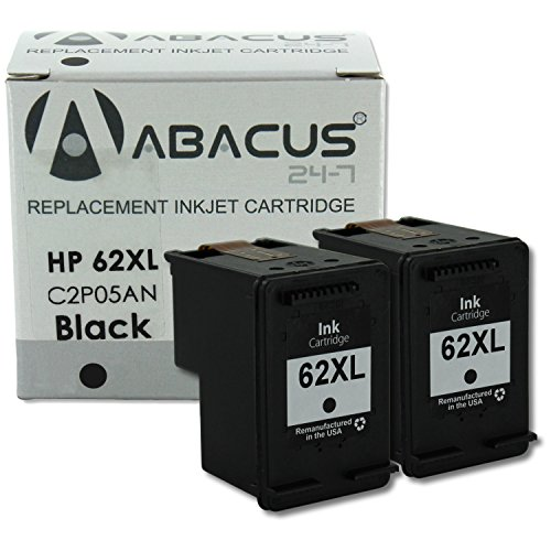 Abacus24-7 Remanufactured HP 62 XL Black Ink Cartridges f...