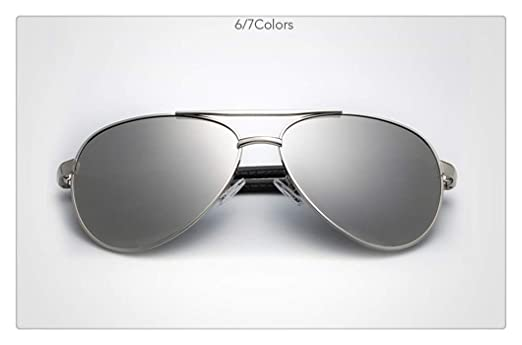 L.L.QYL Gafas Piloto Gafas de Sol Moda Metal Hombres Gafas ...