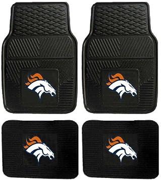 Amazon.com: NFL Denver Broncos Car Floor Mats Heavy Duty 4-Piece ...