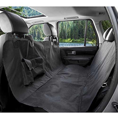 Barksbar Original Pet Seat Cover For Cars   Black  Waterproof   Hammock Convertible  Standard  Black