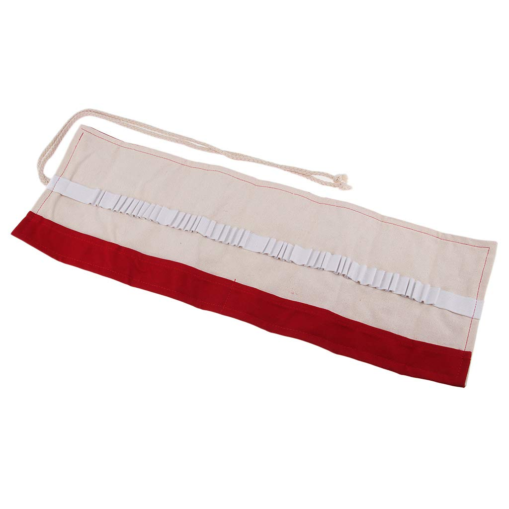 Passionate Red Art Supplies Bags Canvas Roll-Up Pencil Wrap Holder Case Holds 36//48//72 Pencils Brush Pouch Storage Pack 36 holes