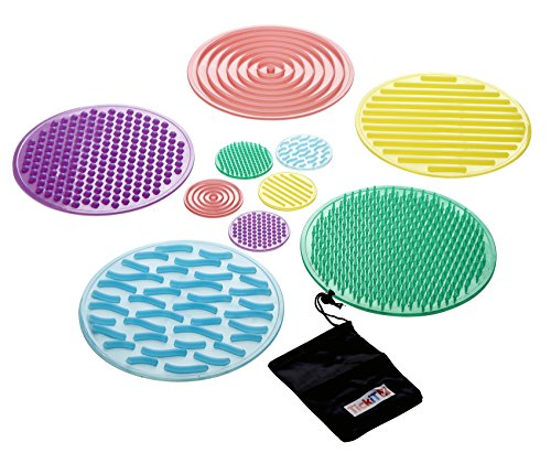 TickiT 9230 SiliShapes Sensory Circles - Set of 10 - Calming Sensory Toy for Kids - Assists Autistic Toddlers and Children