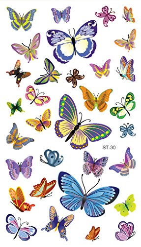 Supperb Butterfly Temporary Tattoos/6-pack by Supperb (Image #6)