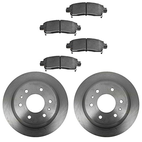 (Rear Premium Posi Disc Brake Pad & Rotor Kit Set for GM SUV Truck)