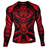 Venum Gladiator 3.0 Rashguard - Long Sleeves - M, Black/Red, Medium