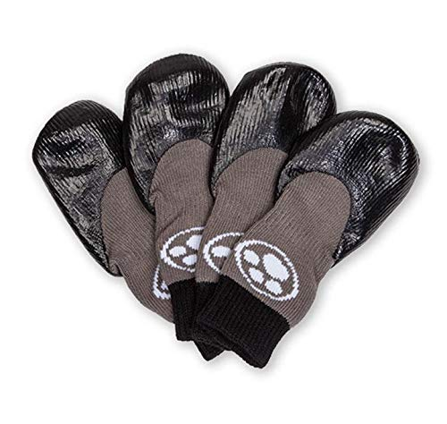 - Grippers Non Slip Dog Socks | Traction Control for Indoor Wear | Dog Paw Protection | Non Skid Dog Booties Grip (L)