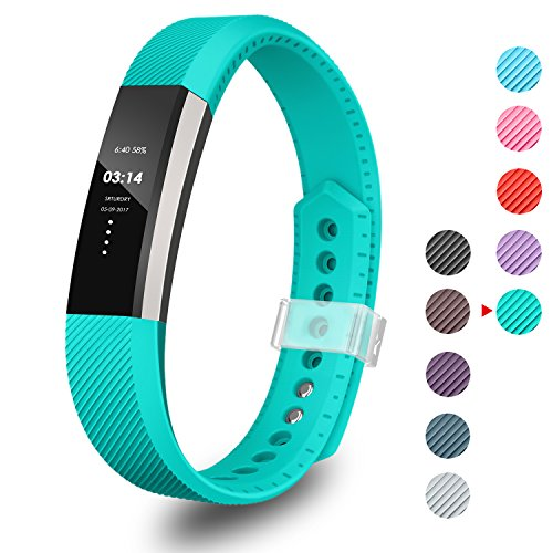 Greeninsync Fitbit Alta Band, Replacement Bands for Fitbit Alta/Fitbit Alta Band/Fitbit Alta Bands Small with Metal Clasp (Teal)