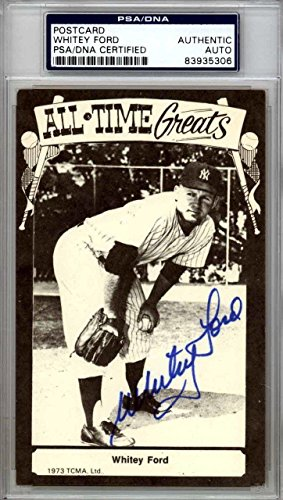 Whitey Ford Autographed 1973 TCMA All Time Greats Postcard Yankees 83935306 PSA/DNA Certified MLB Cut Signatures