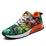 Dannto Men Women Sport Walking Running Shoes Lightweight Non-Slip Cushioning Athletic Fashion Sneakers(Orange-A,42)