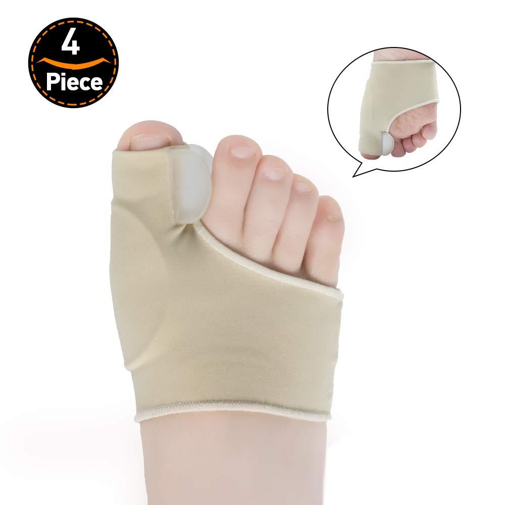 Welnove gel toe separatori per dita per alluce valgo, dita sovrapposizione taglia l-10pz