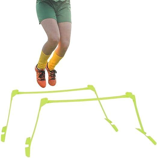 Tbest Obstáculos de Entrenamiento,2Pcs Obstáculos de Velocidad Obstáculos Agilidad Deportes Fútbol Rugby Running Entrenamiento de Velocidad Ajustable Valla de Velocidad de Entrenamiento Futbol: Amazon.es: Deportes y aire libre
