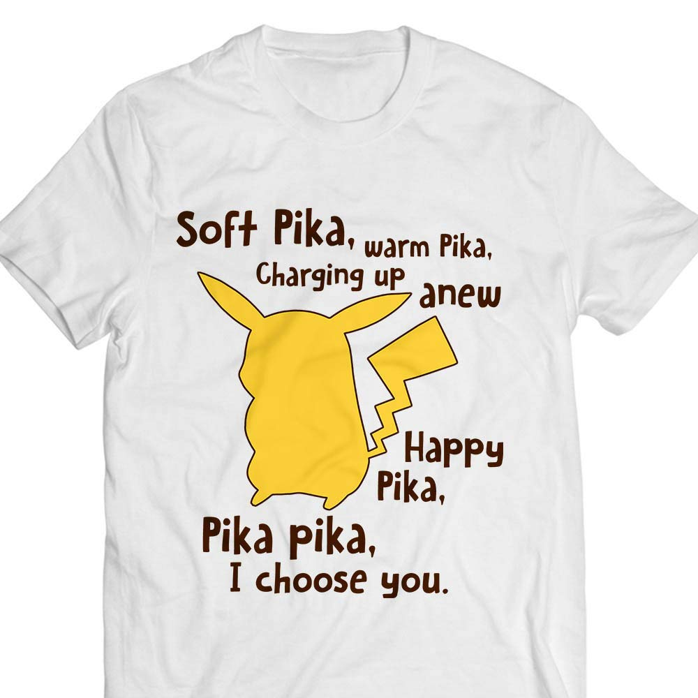 Soft Pika Warm Pika Charging Up Anew Happy Pika Customized Tshirt Tank Top