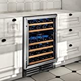 Cheap Wine Enthusiast Classic 46 Dual Zone Wine Cellar -Stainless Steel Trim