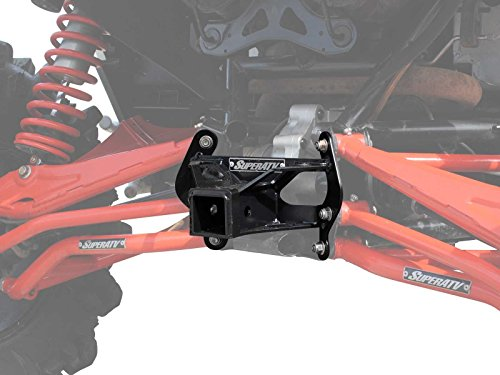 Rear Receiver - SuperATV Heavy Duty Can-Am Maverick Turbo/XDS/Max/XRS Rear Receiver Hitch - Black - (See Fitment)