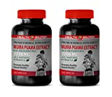 Men Fertility Supplement with Libido Booster - Muira PUAMA Extract 2200 Mg - Male Enhancement Pills - Brain Booster Pills - 2 Bottles 180 Capsules