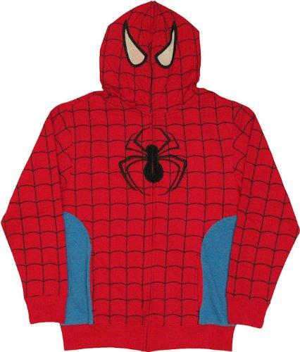Marvel Universe Spider-Man Full Zip Hoodie Size : XX-Large ()