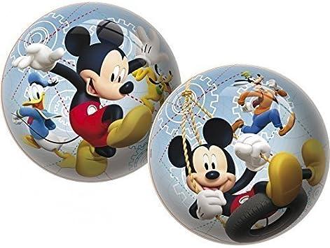 Pelota del partido / Fútbol / Bola de playa / Bola de agua Disney Mickey Mouse con Pluto, Goofy y Donald aprox. 23 cm: Amazon.es: Juguetes y juegos