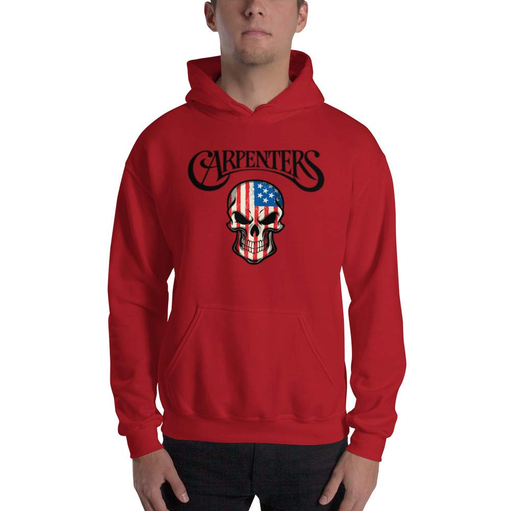 Lukes awesome products American Skull Carpenter Hooded Sweatshirt A Sweater for The Hard Working Tradeperson