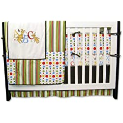 Trend Lab Dr. Seuss Alphabet 4 Piece Crib Bedding Set, ABC