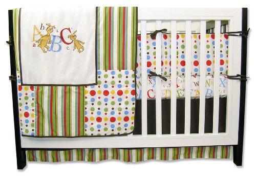 Trend Lab Dr. Seuss 4 Piece Crib Bedding Set, ABC (Capital Letter For Halloween)