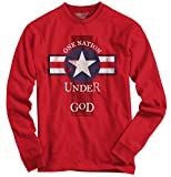 (US) One Nation Religious Gifts Jesus Christ Christian Long Sleeve Tee