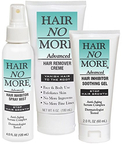 (Hair No More Advanced Hair Inhibitor 2 Step System (Hair No More Cream, Spray & Gel) by Hair No More)
