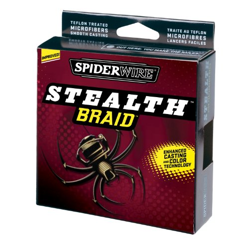 Spiderwire Stealth Braid 300-Yard Spool (Hi-Vis Yellow, Pound/Diameter 10/2)