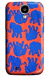Beauty Design Lily Pulitzer Blue Little Elephant Back Hard Case Cover for Samsung Galaxy I9500 S4