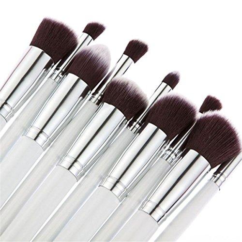 Bigdog Brush Set Natural Hair 10PCS Makeup Setting Spray Matte Finish Long Lasting Brush Kit with Pink Makeup Brush (Easel Spray)