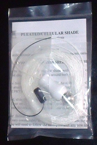 leated SHADE .9mm Restring COMPLETE REPAIR KIT with New WOOD Tassel from Shade Doctor of Maine (Blinds Graber Pleated Shades)