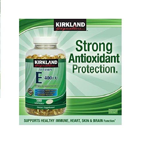 Kirkland Signature Vitamin E 400 IU, 500 Softgels each (pack of 2) Review