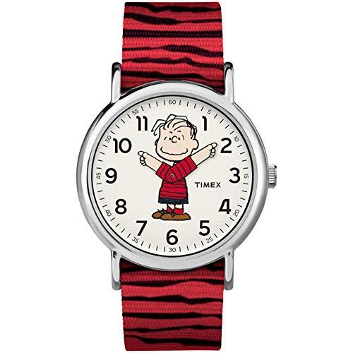 Timex Unisex Weekender Peanuts 38mm Nylon Strap Slip-Thru Watch