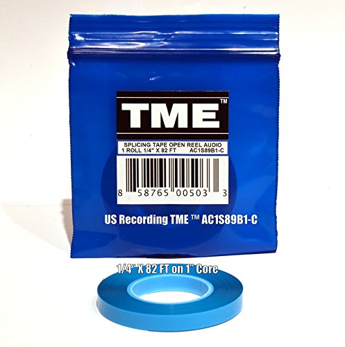 TME Open Reel Audio Splicing Tape 1/4 In X 82 Ft in Logo Poly Pack for RMGI Quantegy Maxell AMPEX ATR Media AC1S89B1C