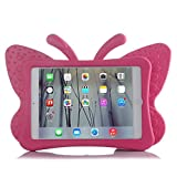 ipad 2 case for girls - HCHA Apple iPad 2 3 4 Kids Case Kids Proof Shockproof Protective Case Drop-proof Durable Light Weight EVA Foam Case for iPad 2/3/4 Generation 9.7 Inch (Butterfly Rose Red)
