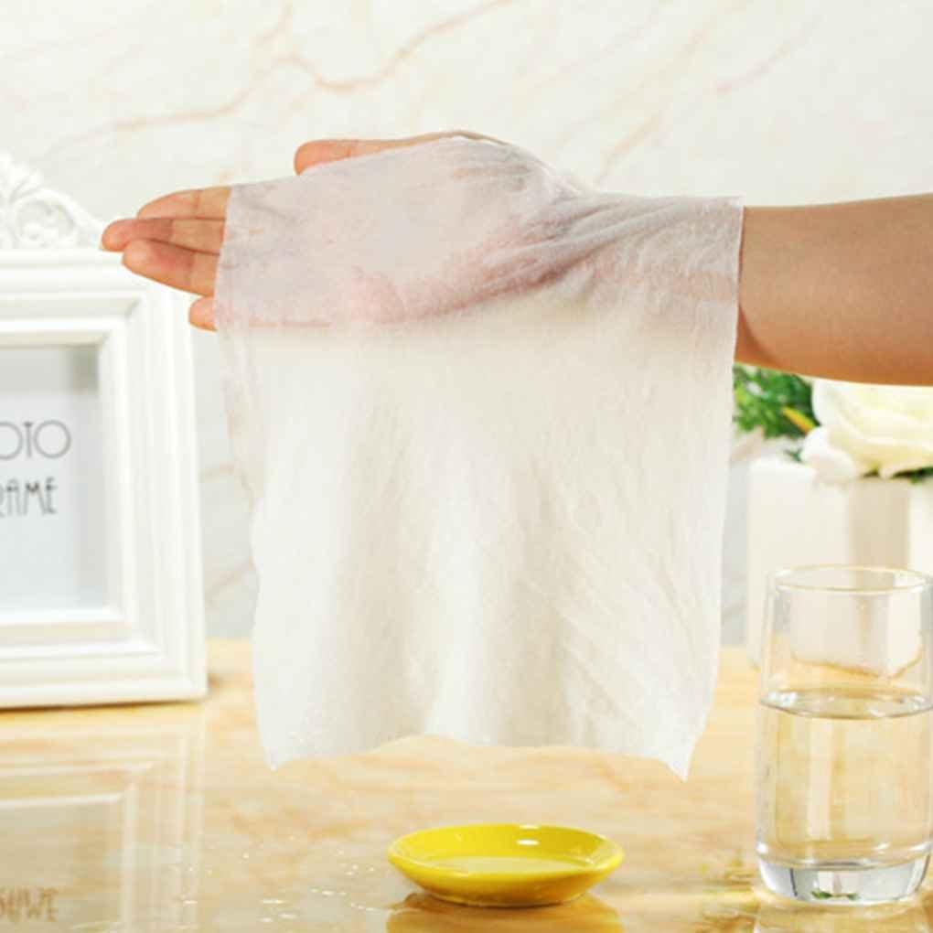 Providethebest 50pcs / set de toallas desechables aire comprimido mágico viaje algodón Máscara de tejido de tela de la tableta de papel Toallitas: ...