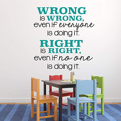 (Classroom Decorations - Vinyl Wall Decal or Sign for Teachers, Classrooms and Schools, Right is)