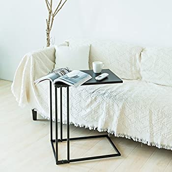 C Hopetree Sofa Side Table Metal Snack Laptop C Shape End Table Coffee Table  For