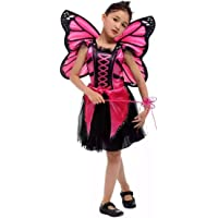 BUTTERFLYDRESS for Girls Magenta with Wings Insect Costume (5-6)