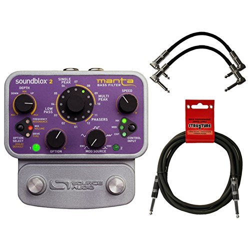 ox 2 Manta Bass Filter Pedal SA223 w/ Power Supply and 3 Cables ()